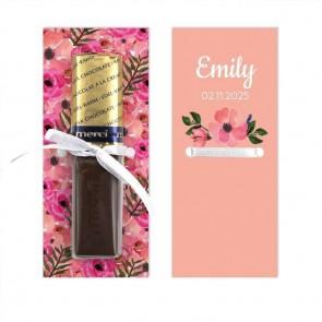 Merci Chocolaatje Geboortebedankje Flowerbomb