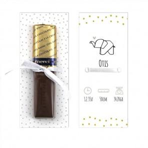Merci Chocolaatje Geboortebedankje Sweet Elephant
