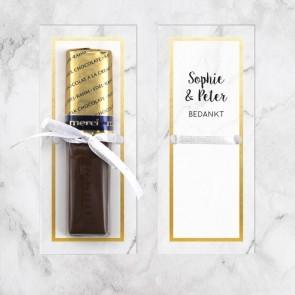 Merci huwelijksbedankje Marble & Gold
