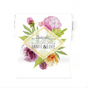 Mini Mint to Be huwelijksbedankje floral