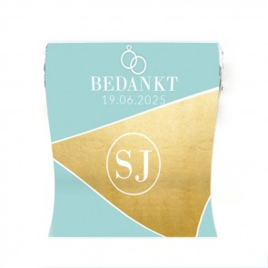 Mini Mint to Be huwelijksbedankje gold foil