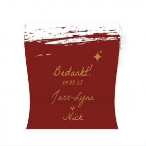 Mini Mint to Be Huwelijksbedankje Bordeaux Paint