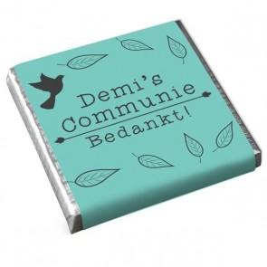 Mini Chocolaatje Communie Feathers