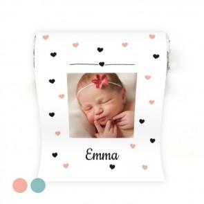 Mini Mentos geboortebedankje roze