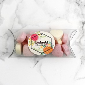 Mini Pillow Box trouwbedankje Peonies Fanfare