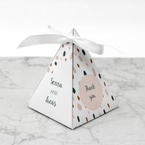 Piramide doosje huwelijksbedankje - Blushed