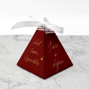 Piramide doosje Huwelijksbedankje Bordeaux Paint
