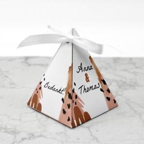 Piramide doosje huwelijksbedankje - Conga