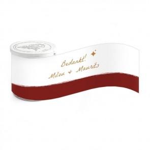 Mini Pringles huwelijksbedankje Bordeaux Paint