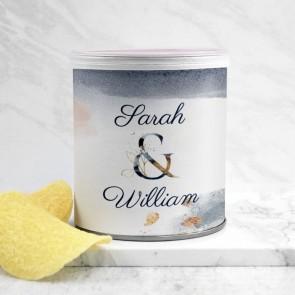 Mini Pringles huwelijksbedankje Gold Watercolour