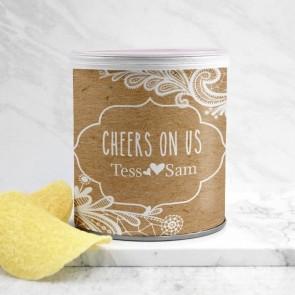 Mini Pringles huwelijksbedankje Vintage Lace