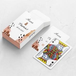 Gepersonaliseerde speelkaarten huwelijksbedankje - Conga - kaarten en doosje