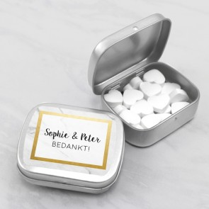 Sweet Tins Huwelijksbedankje Marble & Gold