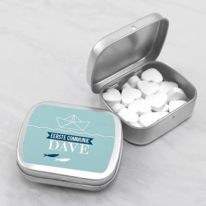 Sweet Tin communiebedankje nautical