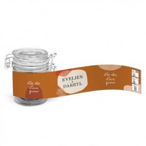 Weckpotje Groen Huwelijksbedankje Salted Caramel