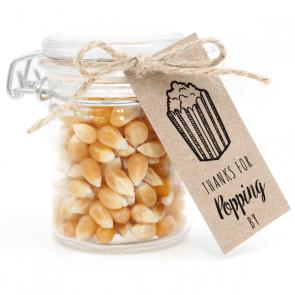 Weckpotje met Popcorn Communie bedankje Popping By
