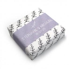 Zeep huwelijksbedankje Lavender Pattern