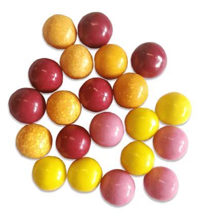 Kauwgomballen in 3 kleuren