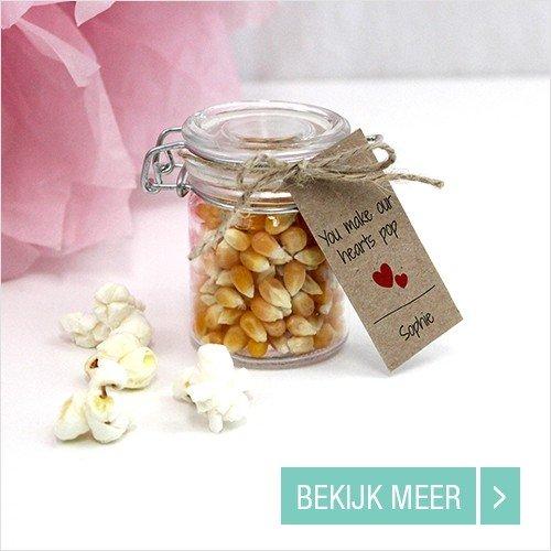 Goedkope Huwelijk bedankjes Weckpotje Popcorn