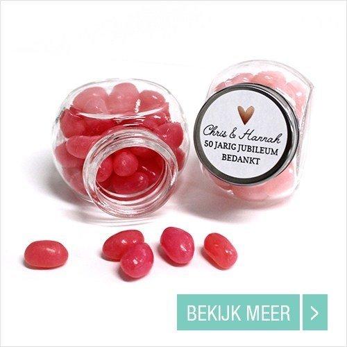 Bruiloft bedankjes Candy Jar