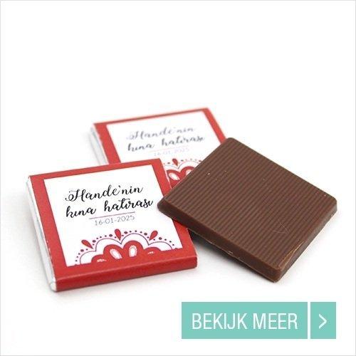 Bruiloft bedankjes Mini Chocolade