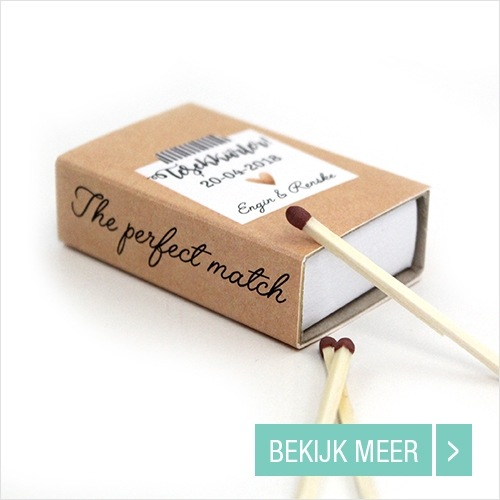 Bruiloft bedankjes Wedding Matches