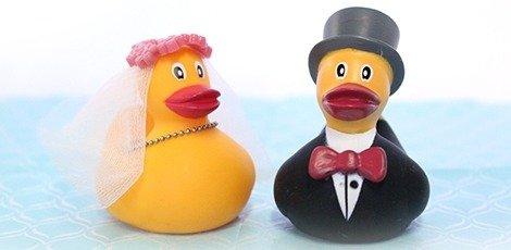 bedankkaartje-badeendjes-bruidspaar-huwelijksbedankjes
