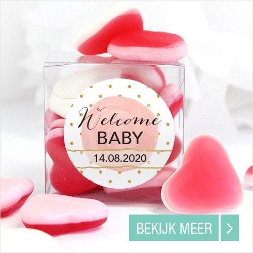 Goedkope-bedankjes-geboorte- Candy-Cube