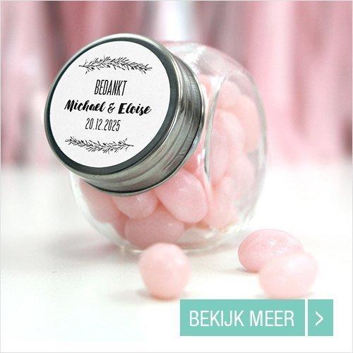 Candy Jar Huwelijskbedankje