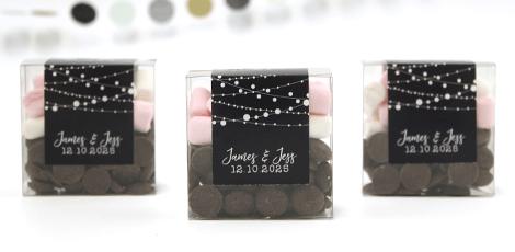 Chocolate and Mellow Box huwelijksbedankje