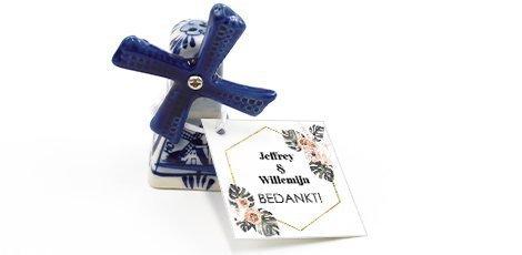 Huwelijksbedankjes Delfts Blauw