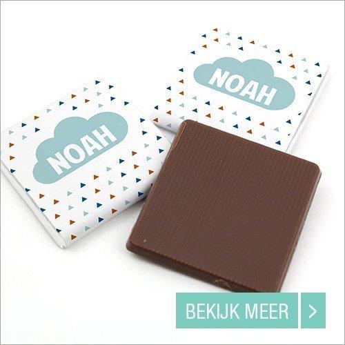 Doop bedankjes Mini Chocolade