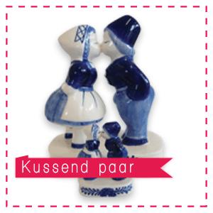 kussend echtpaar delftsblauw huwelijksbedankje