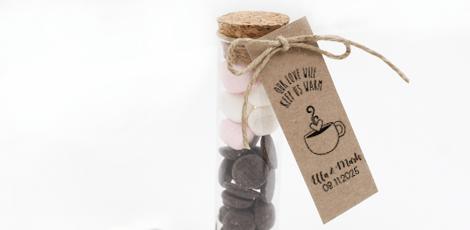 Huwelijkbedankjes Hot Chocolate Tubes