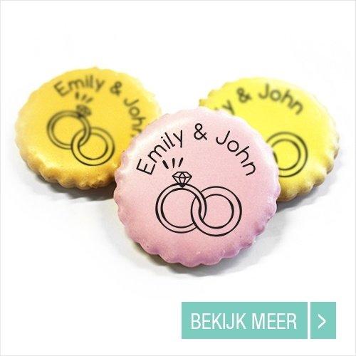 Bedrukt Snoepgoed Likkoekjes huwelijksbedankjes