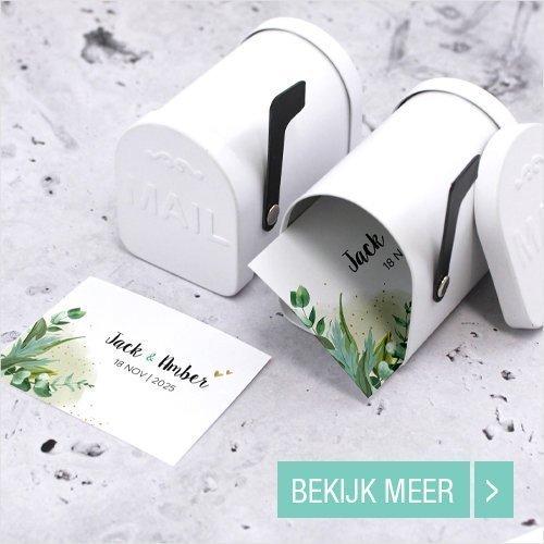 Mini Mail Box huwelijksbedankjes