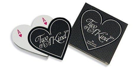 Huwelijksbedankjes Hartvormige speelkaarten