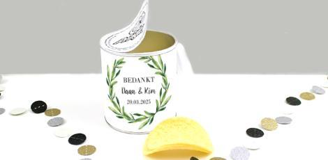 Mini Pringles huwelijksbedankjes