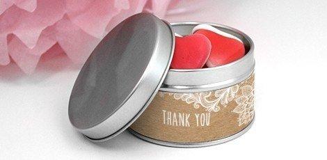 Huwelijksbedankjes Round Tin