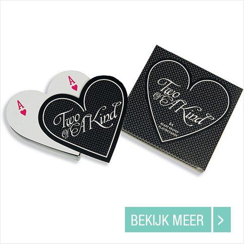 Hartvormige Speelkaarten huwelijksbedankjes