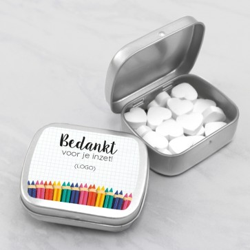 Sweet Tin zakelijk attentie - Potlood thema