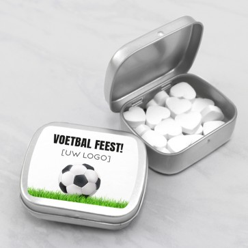 Sweet Tin zakelijk bedankje - Voetbal