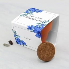 Bloempotje zakelijk bedankje - Blue Flowers
