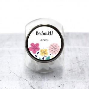 Candy Jar zakelijk bedankje Bloem