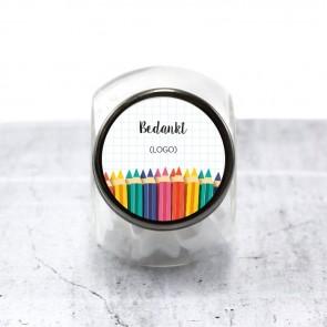 Candy Jar zakelijk bedankje Potlood