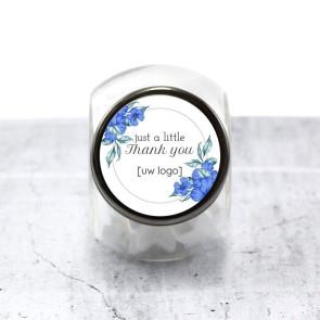 Candy Jar zakelijk bedankje - Blue Flowers