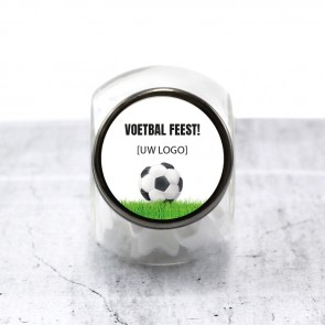 Candy Jar zakelijk bedankje - Voetbal