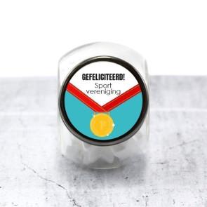 Candy Jar zakelijk bedankje - Medal
