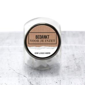 Candy Jar zakelijk bedankje - Paper