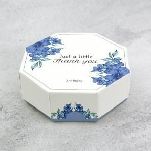 Celebrations doosje zakelijk bedankje - Blue Flowers